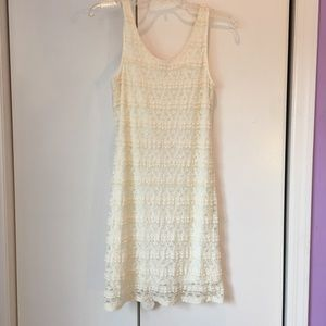 Dresses & Skirts - Cream Lace Dress | Graduation Special Occasion